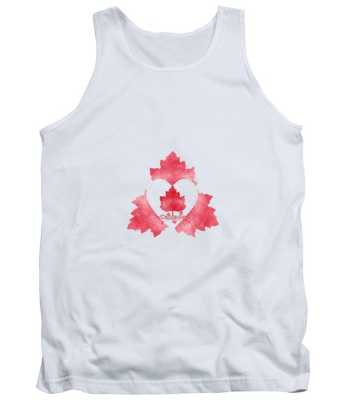 Red White And Canadian Tank Top by Kathleen Sartoris