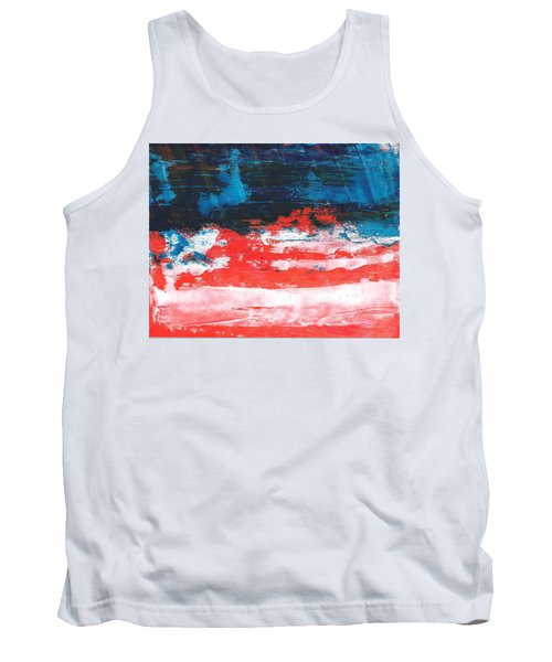 Red White Blue Scene Tank Top