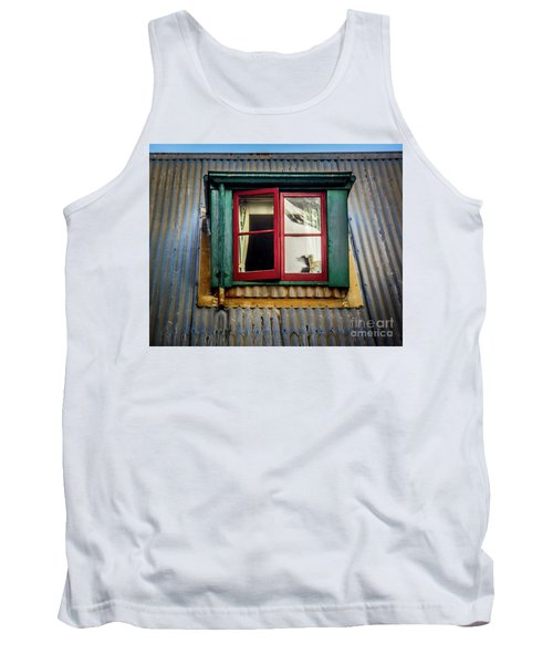 Tank Top featuring the photograph Red Windows by Perry Webster