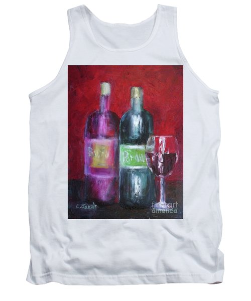 Red Wine Art Tank Top