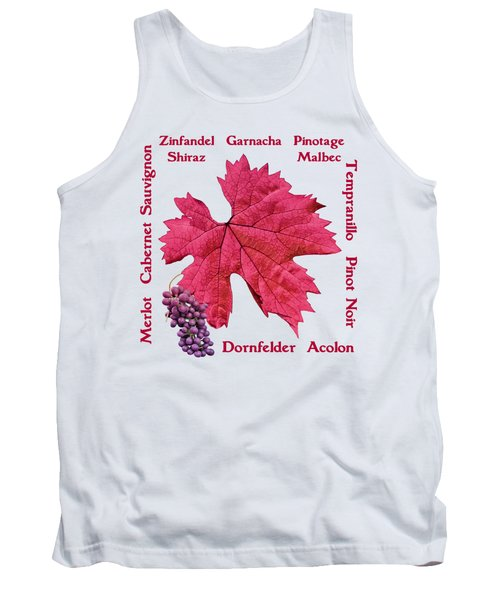 Red Wines Lettering Tank Top