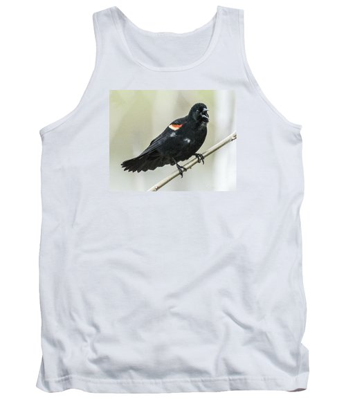Red-winged Blackbird Singing Tank Top
