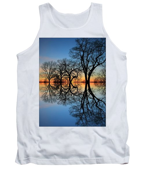 Tank Top featuring the photograph Reflecting On Tonight by Chris Berry