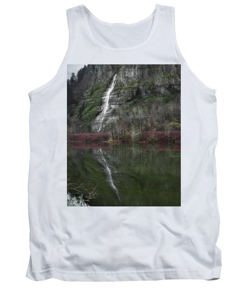 Reflection Of A Waterfall Tank Top