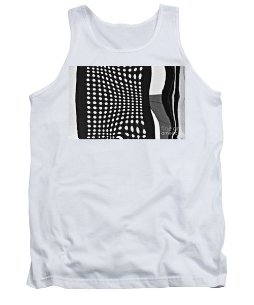 Tank Top featuring the photograph Reflection On 42nd Street 2 Grayscale by Sarah Loft