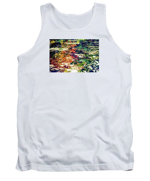 Reflection On Oscar - Claude Monet's  Garden Pond  Tank Top