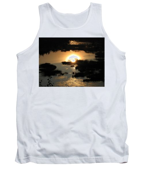Reflections At Sunset Tank Top by Barbara Yearty