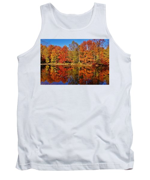 Reflections In Autumn Tank Top by Ed Sweeney