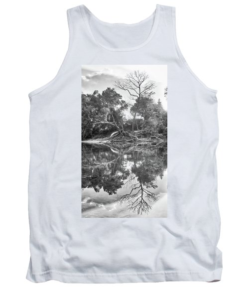 Reflections In Black And White Tank Top