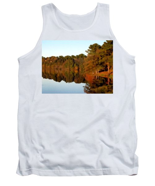 Tank Top featuring the painting Reflections Of A Pennsylvania Autumn by David Dehner