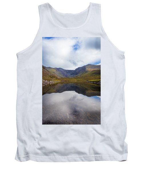 Tank Top featuring the photograph Reflections Of The Macgillycuddy's Reeks In Lough Eagher by Semmick Photo