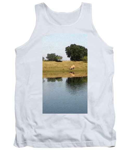 Reflective Cow Tank Top