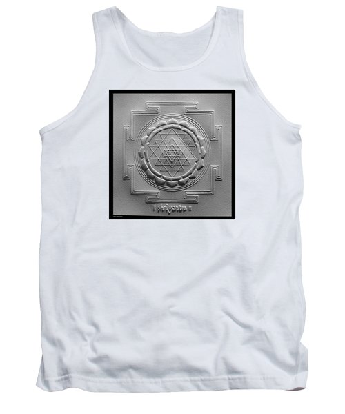 Tank Top featuring the relief Relief Shree Yantra by Suhas Tavkar
