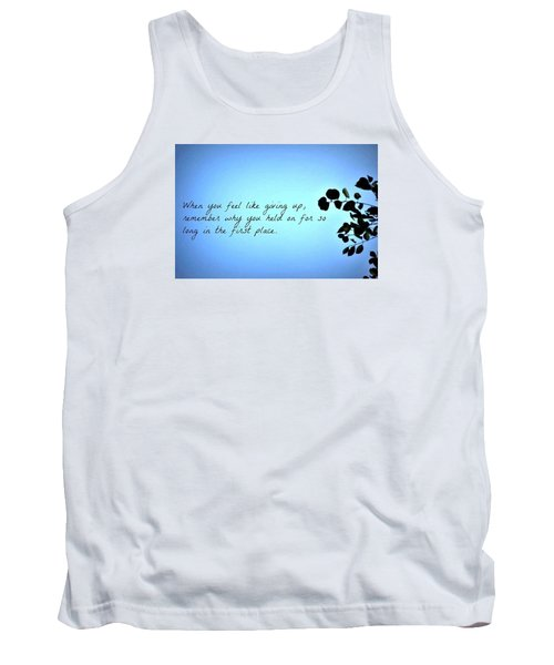 Tank Top featuring the photograph Remember by Artists With Autism Inc