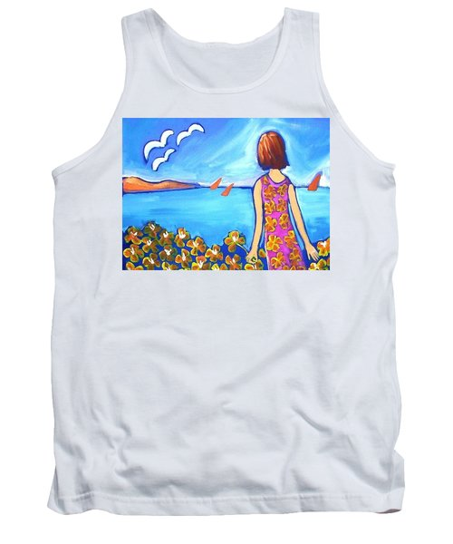 Tank Top featuring the painting Remembering Joy by Winsome Gunning