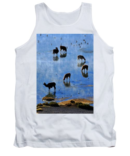 Tank Top featuring the photograph Rendezvous by Skip Hunt