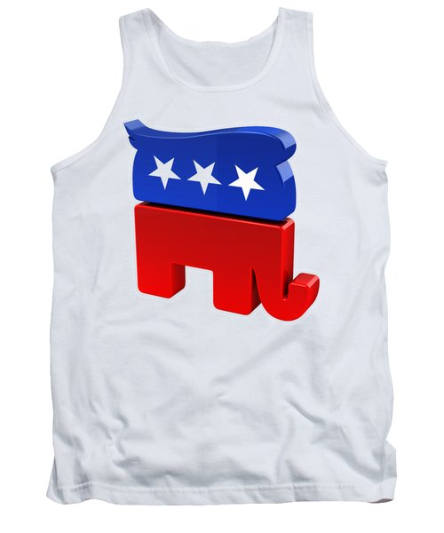 Republican Elephant With Trump Hair Tank Top by Carsten Reisinger
