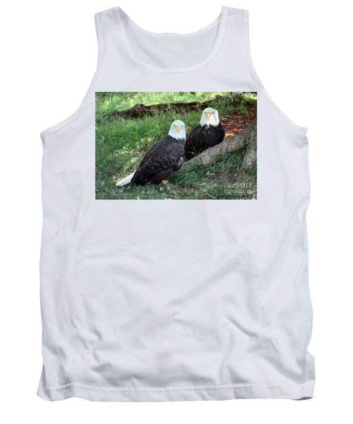 Tank Top featuring the photograph Resting Bald Eagles by Sheila Brown