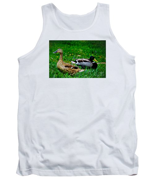 Tank Top featuring the photograph Resting Ducks by Mariola Bitner