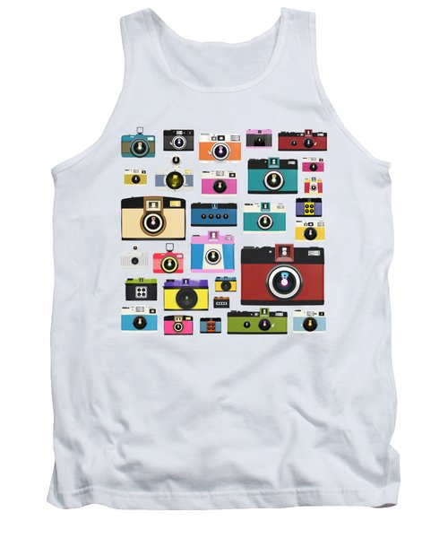 Retro Camera Tank Top by Setsiri Silapasuwanchai