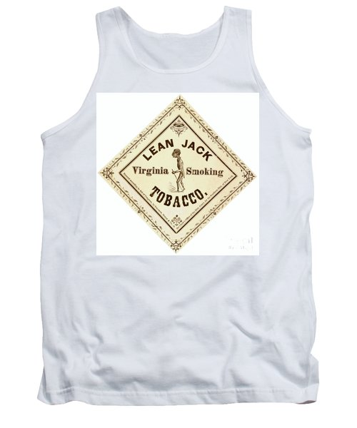 Tank Top featuring the photograph Retro Tobacco Label 1867 A by Padre Art