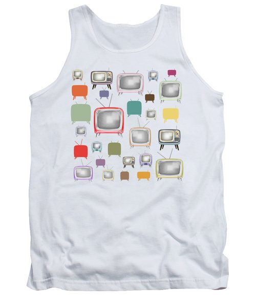 Tank Top featuring the painting Retro T.v. by Setsiri Silapasuwanchai