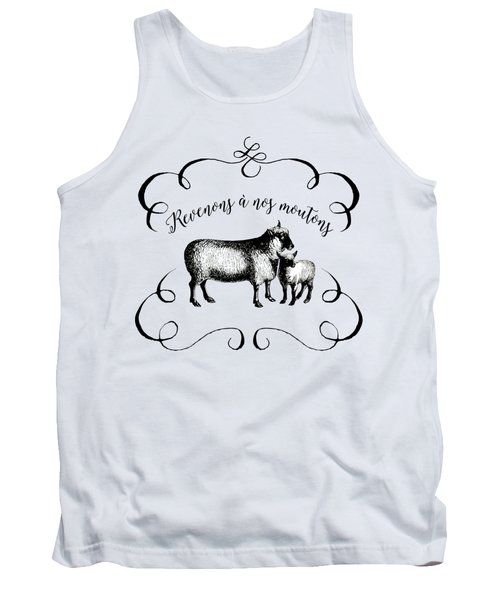 Revenons A Nos Moutons Tank Top by Antique Images