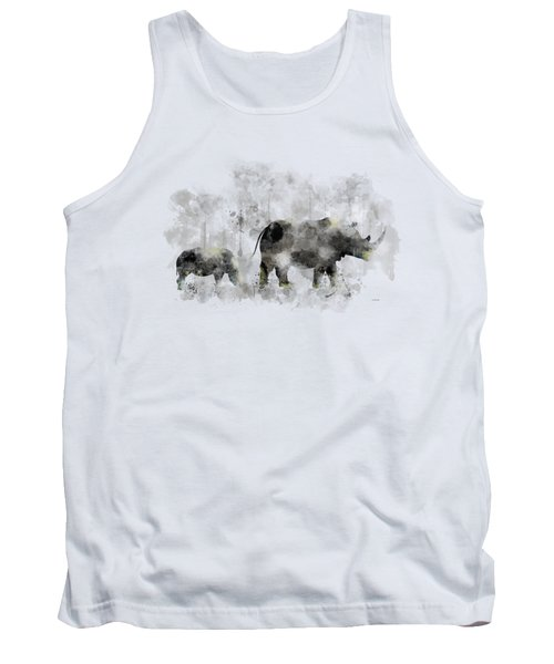 Rhinoceros And Baby Tank Top