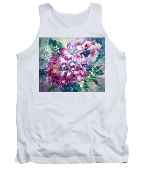 Rhododendron And Lily Of The Valley Tank Top
