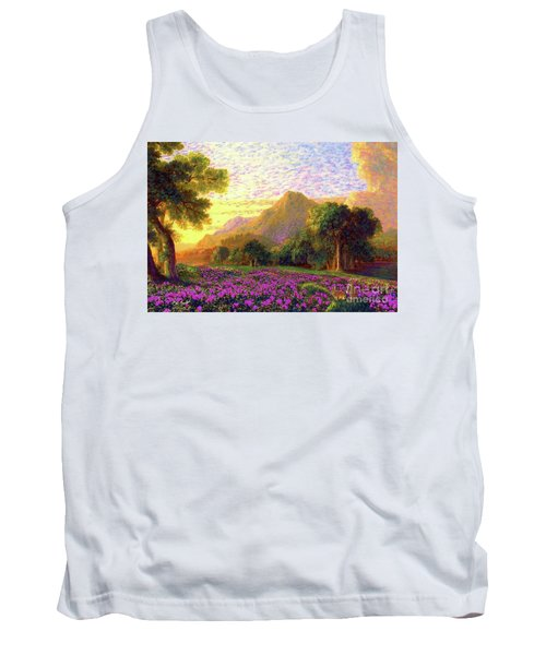 Rhododendrons, Rabbits And Radiant Memories Tank Top