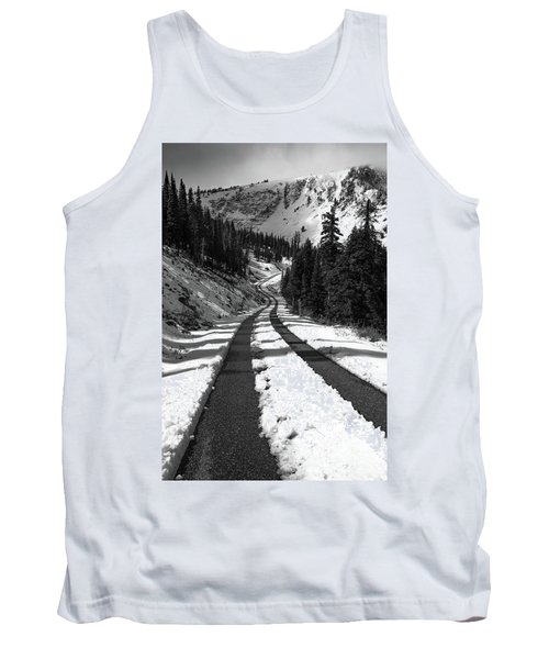 Ribbon To The Unknown Monochrome Art By Kaylyn Franks Tank Top