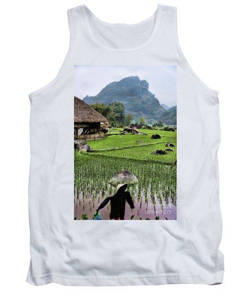 Rice Fields Tank Top by Chuck Kuhn