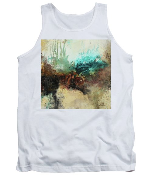Rich Earth Tones Abstract Not For The Faint Of Heart Tank Top by Patricia Lintner