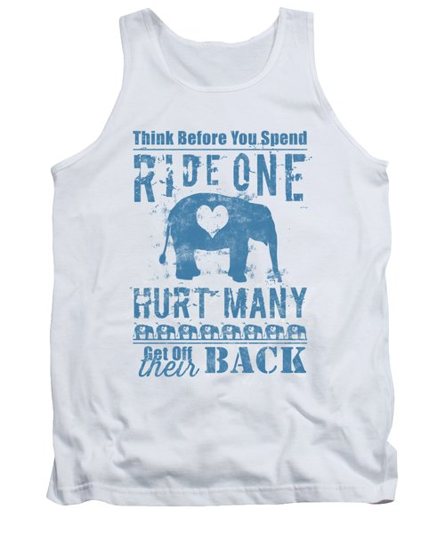 Tank Top featuring the digital art Ride One Elephant Hurt Many by Nola Lee Kelsey