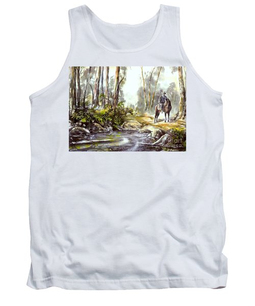 Tank Top featuring the painting Rider By The Creek by Ryn Shell