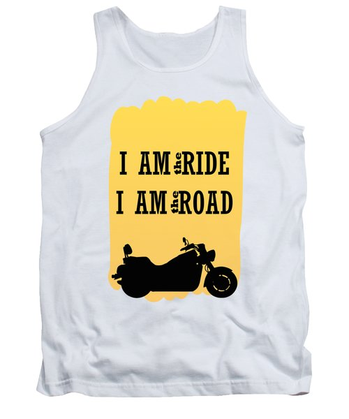 Rider Is The Ride Is The Road Tank Top by Keshava Shukla