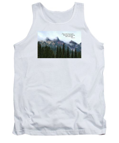 Tank Top featuring the photograph Rides On The Clouds by Lynn Hopwood