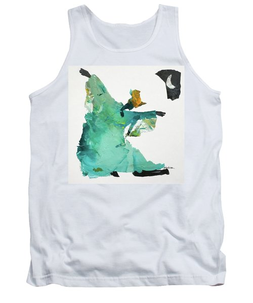 Tank Top featuring the painting Ring Shout Dancer by Mary Sullivan