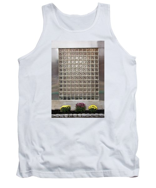 Rippled Glsss Window Segments Above The Garden Tank Top by Gary Slawsky
