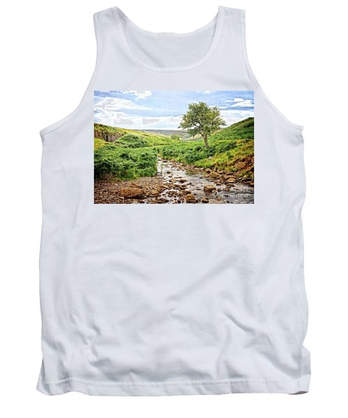 River And Stream In Weardale Tank Top