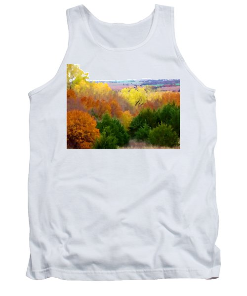 Tank Top featuring the digital art River Bottom In Autumn by Shelli Fitzpatrick