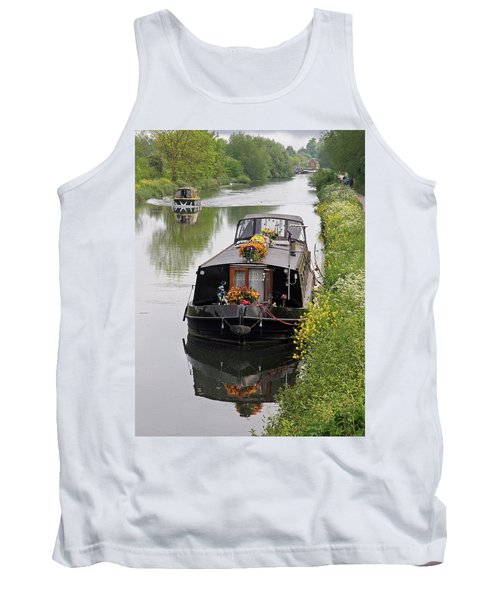 River Life - Narrowboats On British Waterways Tank Top