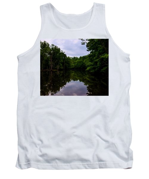 Tank Top featuring the digital art River Reflections by Chris Flees