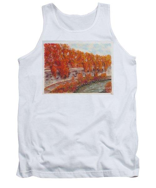 River Tiber In Fall Tank Top
