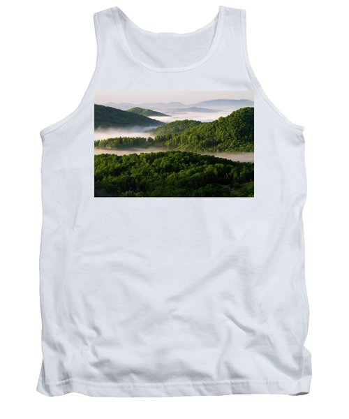 Rivers Of White Tank Top by Deborah Scannell