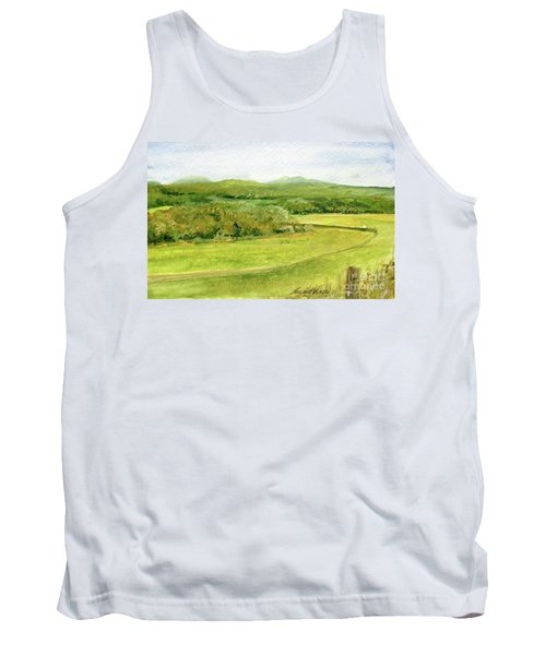 Road Through Vermont Field Tank Top