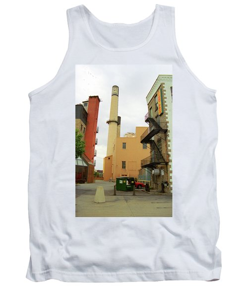 Rochester, Ny - Behind The Bar And Factory 2005 Tank Top by Frank Romeo