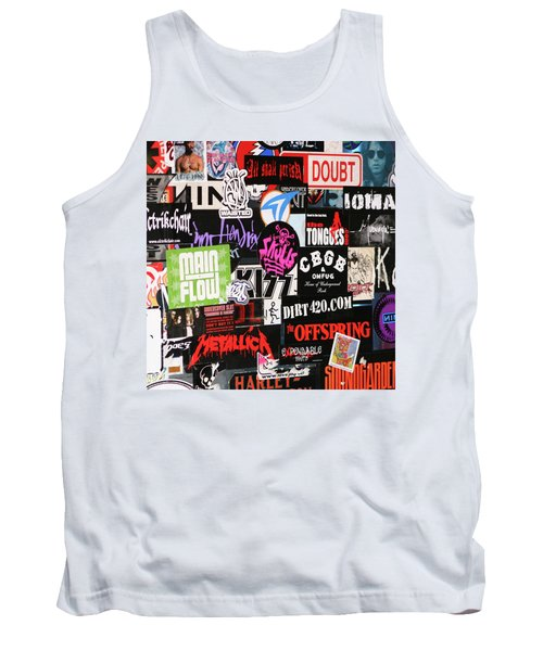 Rock And Roll Stickers Tank Top