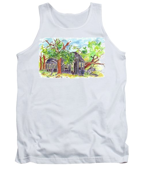 Tank Top featuring the painting Rockland Cabin by Cathie Richardson