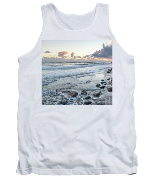 Rocks On The Beach During Sunset Tank Top